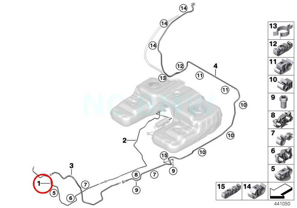 Amazon Com Bmw Genuine Fuel Feed Line Automotive