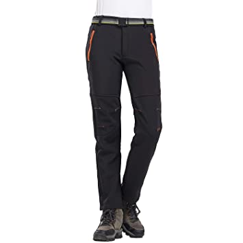 LHHMZ Pantalon de randonnée en Molleton imperméable pour Femme Soft Shell  Stretch Sportswear en Plein air 8dc66e259c8
