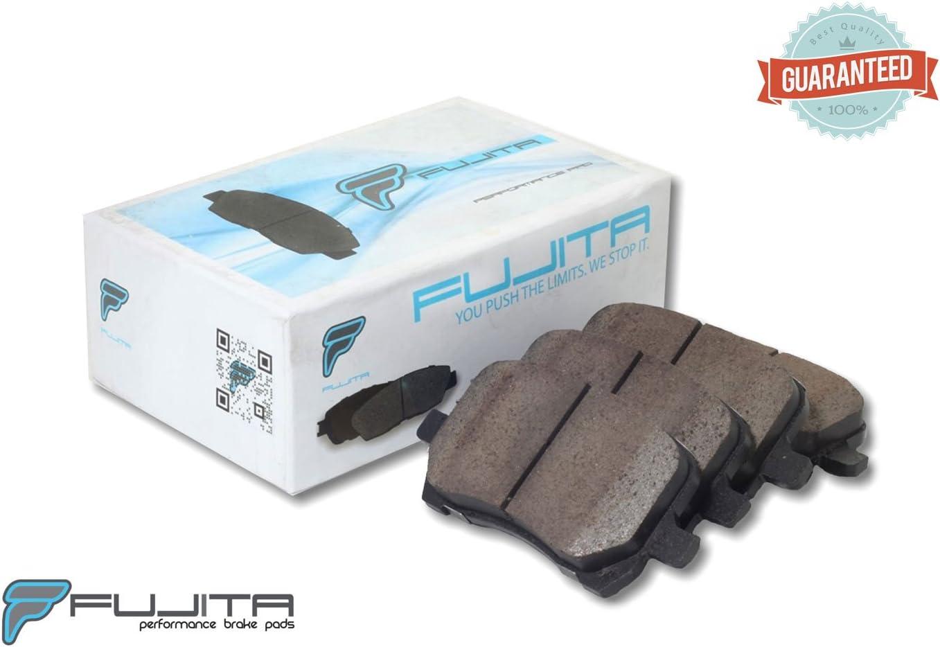Fujita Brake compatible with Chevrolet, Pontiac, Saturn - FB10280 Street Performance Ceramic Brake pad set