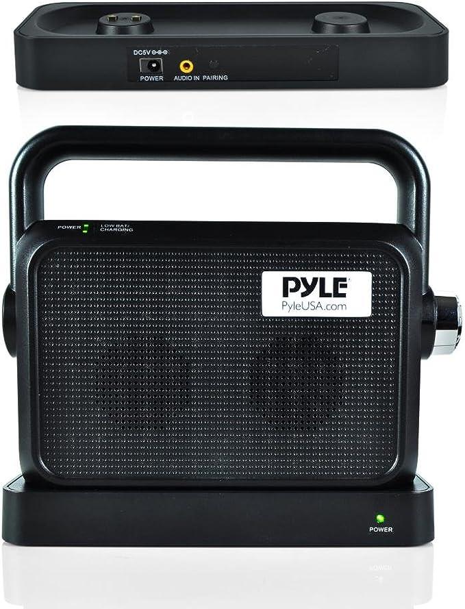 Pyle - Altavoz inalámbrico para TV, portátil, Caja de Sonido, TV, Audio, Audio, Asistencia auditiva: Amazon.es: Electrónica