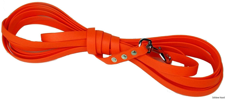 Traino Guinzaglio in BioThane 10 m – Vari colorei e larghezze – Impermeabile – con o senza cinturino da polso