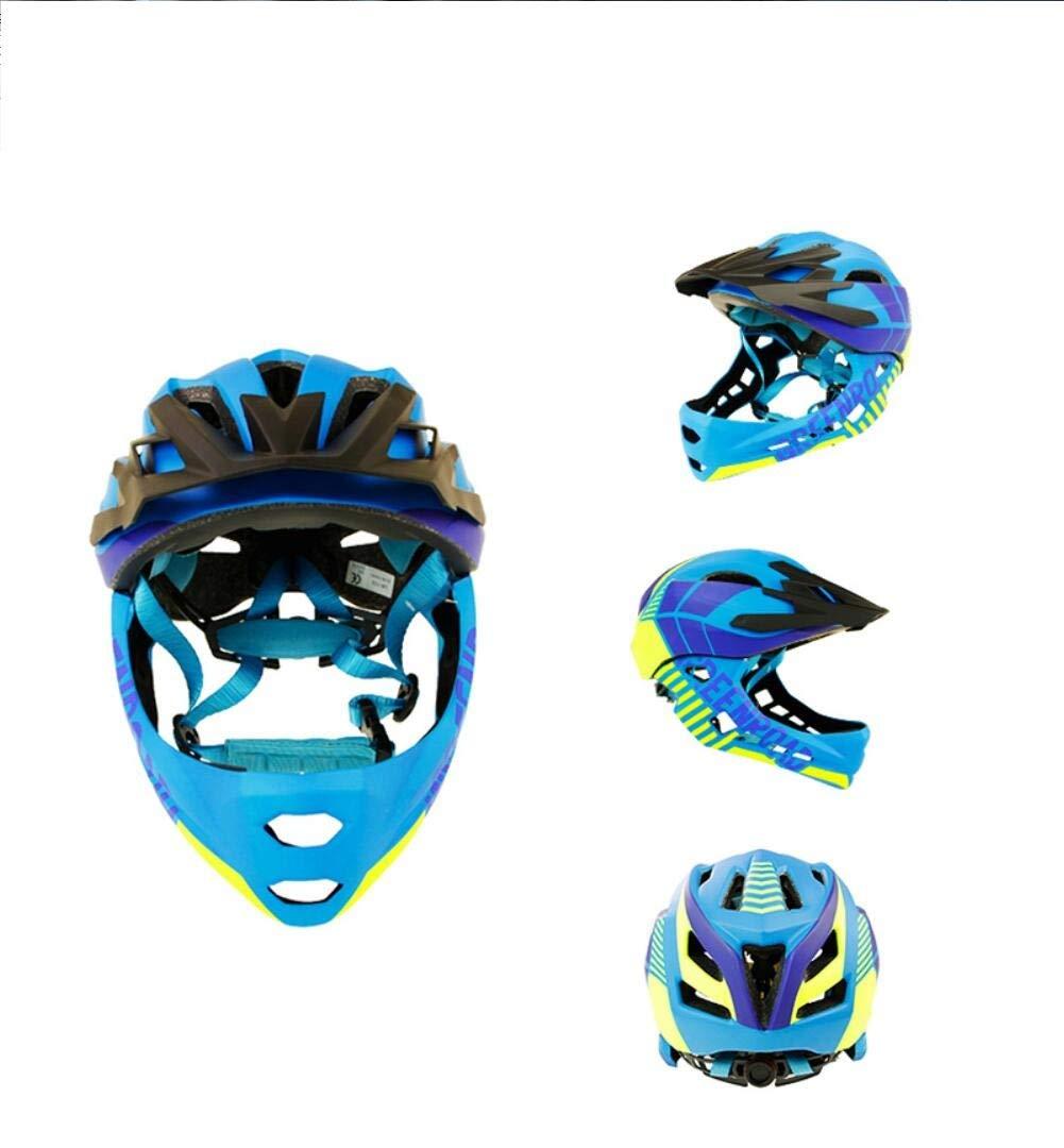 14-Loch-Ventilationkinder Fahrradhelm Motorrad Vollgesichts Helm Kind Schutzausrüstung Sport Schutzausrüstung Reiten Skaten,Blau