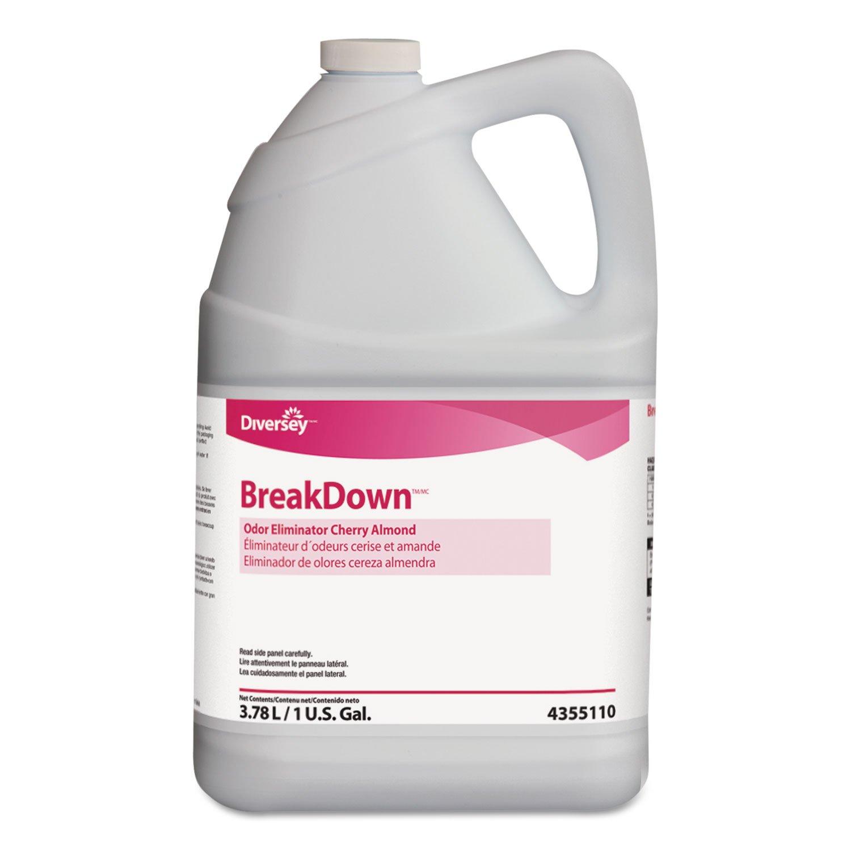 Diversey 94355110 Odor Eliminator, Cherry Almond Scent, Liquid, 1 gal. Bottle (Case of 4)