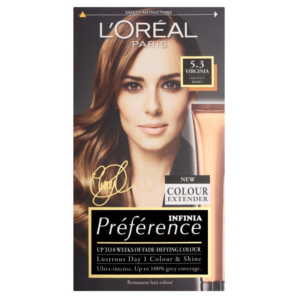 L Oreal Preference Color Chart Keninamas