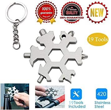 Snowflake Multitool Outdoor Tool Sets Spanner Screwdriver Tool Combination