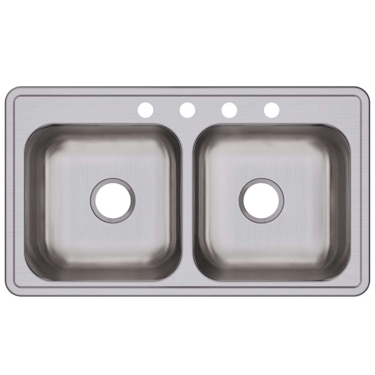 Elkay DSE233194 Dayton Equal Double Bowl Drop-in Stainless Steel Sink by Elkay