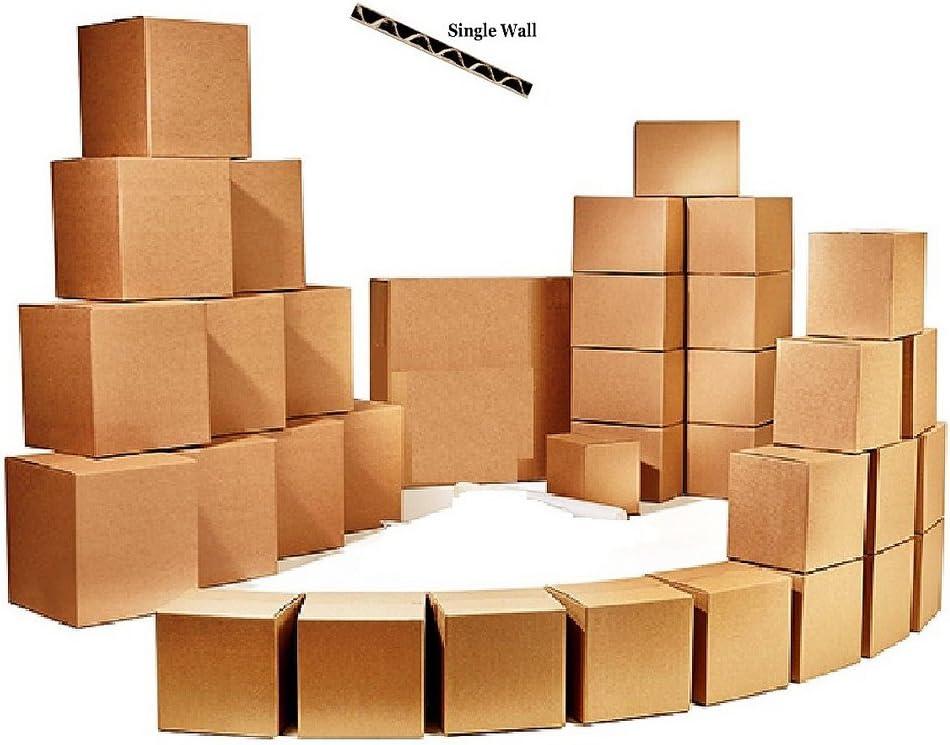 60 cajas de cartón fuerte sola pared 18