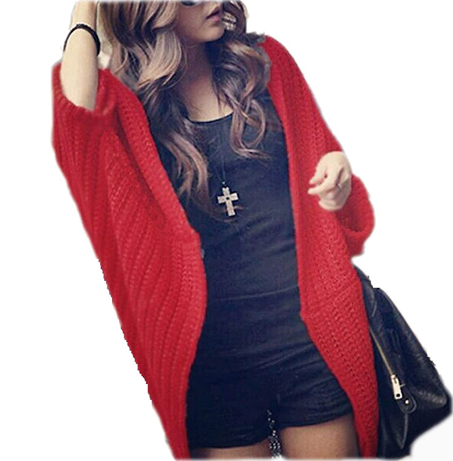 Tammy Open Front Shrug Cardi - Red Fits US Size 4 - 6 (Item# 40015R)