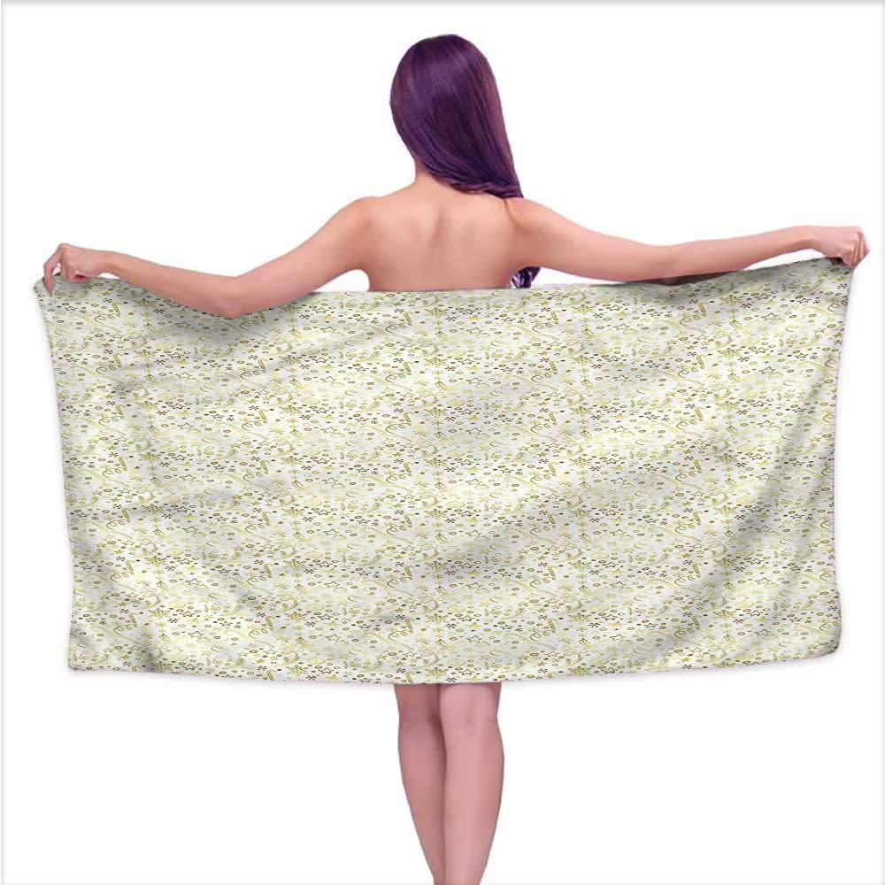 Denruny Bath Towel Baby Christmas,Doodle Swirls,W31 xL63 for Kids