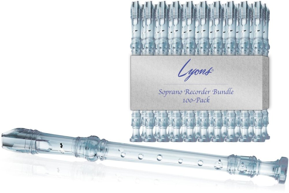Lyons Soprano Recorder Value Bundle 100-Pack Transparent Clear by Lyons