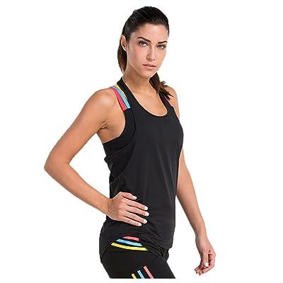 12c7ac2b60f6e 1Bests Women Sleeveless Racerback Tank Top Loose Yoga Training Workout  Halter T-Shirt