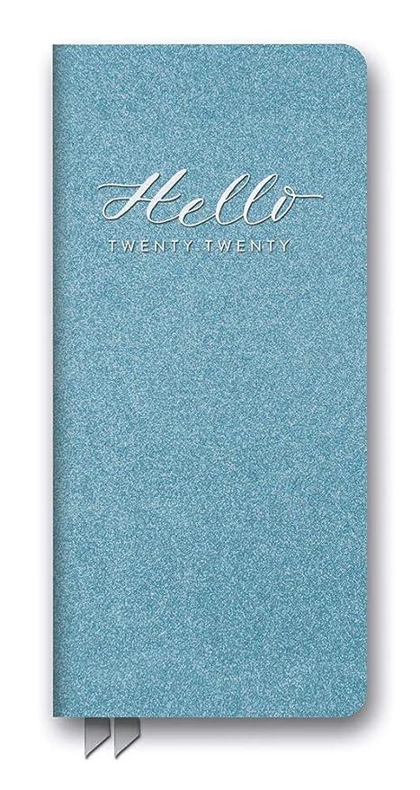 Orange Circle Studio 2020 Leatheresque Jotter Agenda, Hello Blue Shimmer
