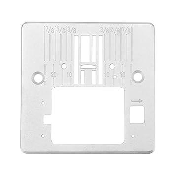 Placa de la garganta de la aguja para los accesorios de la máquina de coser de acero inoxidable Singer 4423 4432 5511: Amazon.es: Hogar