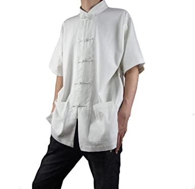 545cdbaebf Fine Linen White Kung Fu Martial Arts Tai Chi Shirt Clothing XS-XL or Tailor  Custom Made + Free Magazine  Amazon.co.uk  Clothing
