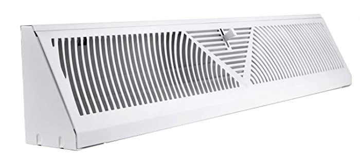 Accord ABBBWH24 Baseboard Register with Sunburst Design, 24-Inch(Duct Opening Measurement), White