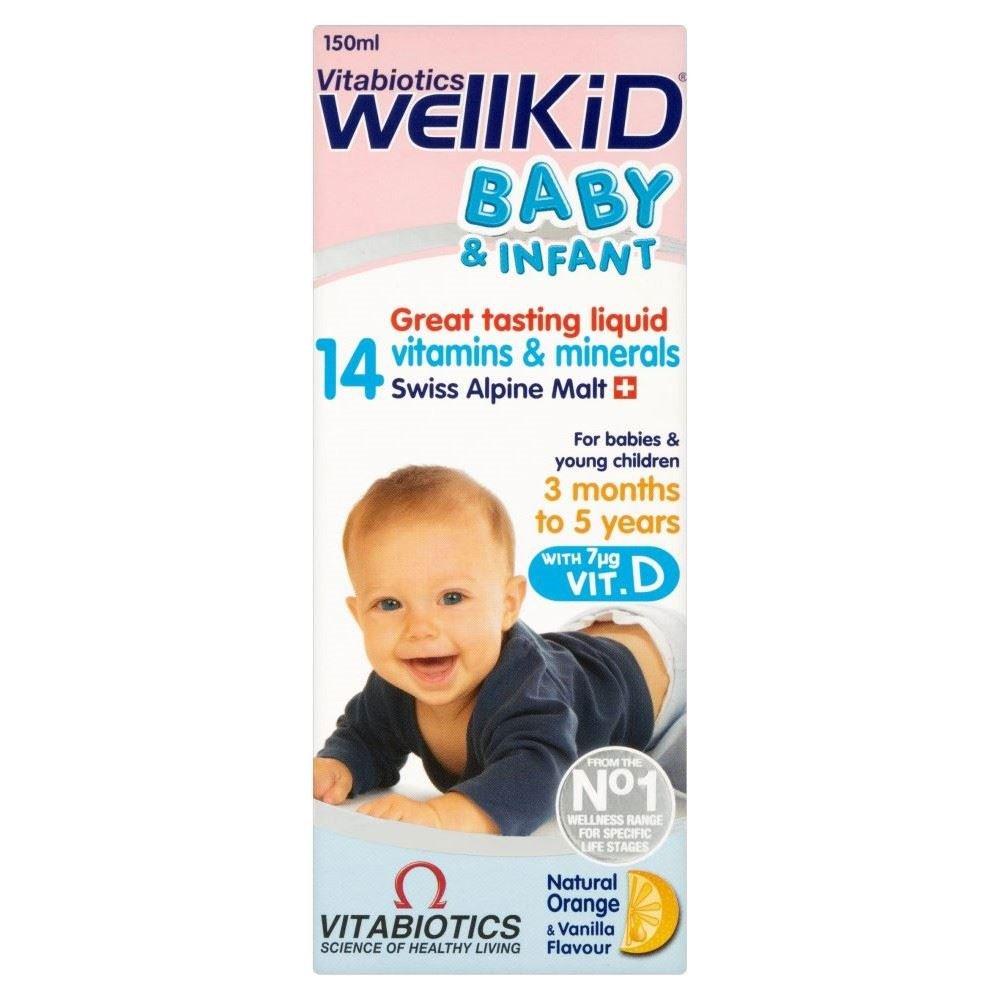 Vitabiotics Bebé Wellkid Y Vitaminas Infantiles (150ml) (Paquete de 6): Amazon.es: Hogar