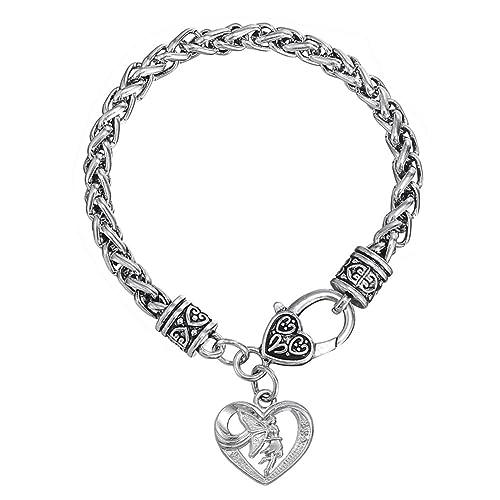 Skyrim El Logotipo de diseño de ángel Colgante, lo Que supone la amabilidad Significado, Pulsera de Cadena de Metal Briliant: Amazon.es: Joyería