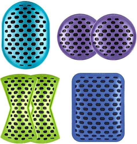 [해외]remodeez 천연 탄소 냄새 및 수분 제거제 : Go Deodorizer, Purple (2 Pack)/remodeez Natural Carbon Odor and Moisture Remover: On the Go Deodorizer, Purple (2 Pack)