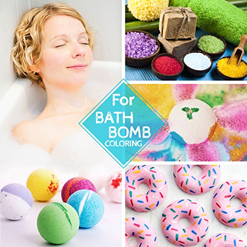 12 Color Bath Bomb Soap Dye - Skin Safe Bath Bomb Colorant Food Grade Coloring for Soap Making Supplies, Natural Liquid Soap Colorant for DIY Bath Bomb Supplies Kit, Slime, Crafts - with Instructions