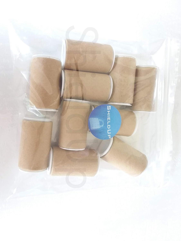 10 x ShieldUp Strong Cardboard Tubes   25mm Diameter by 50mm Long