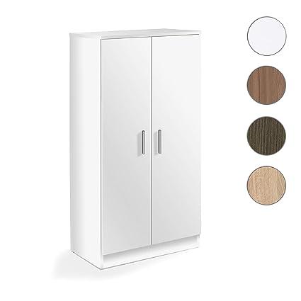 Habitdesign 007813O - Scarpiera armadio, colore: bianco, dimensioni ...