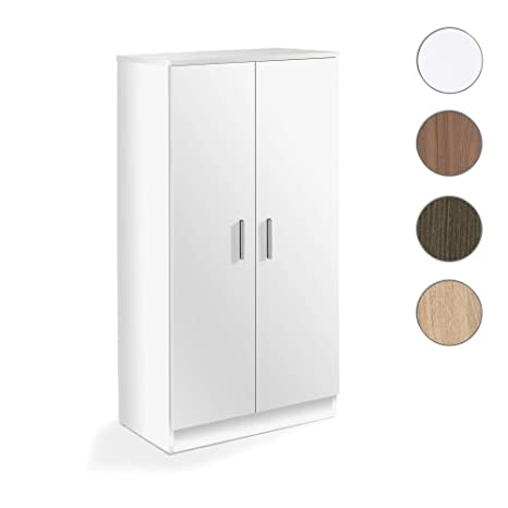 Habitdesign 007813o Zapatero Armario Basic Mueble Auxiliar Acabado En Color Blanco Medidas 108 X 55 X 36 Cm De Fondo