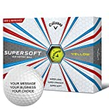 Callaway Supersoft Personalized Golf Balls - Add Your Own Text (12 Dozen) - Yellow