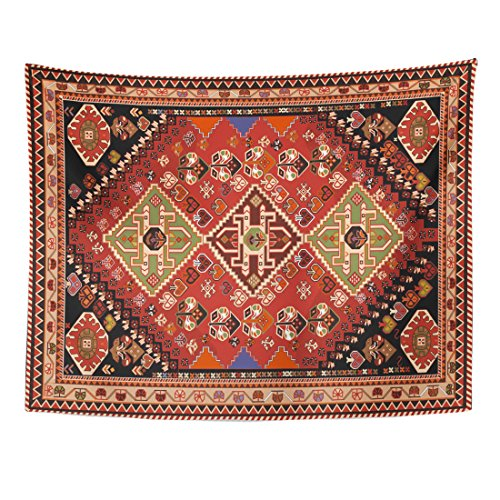 - TOMPOP Tapestry Pattern Persian Carpet Tribal and Changing Colors Abstract Arabesque Home Decor Wall Hanging for Living Room Bedroom Dorm 60x80 Inches