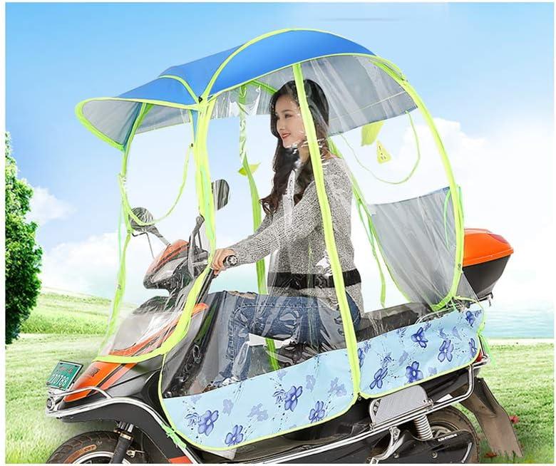 MILECN Fully Enclosed Motor Scooter Umbrella Mobility Sun Shade /& Rain Cover Waterproof,Universal,Blue,B