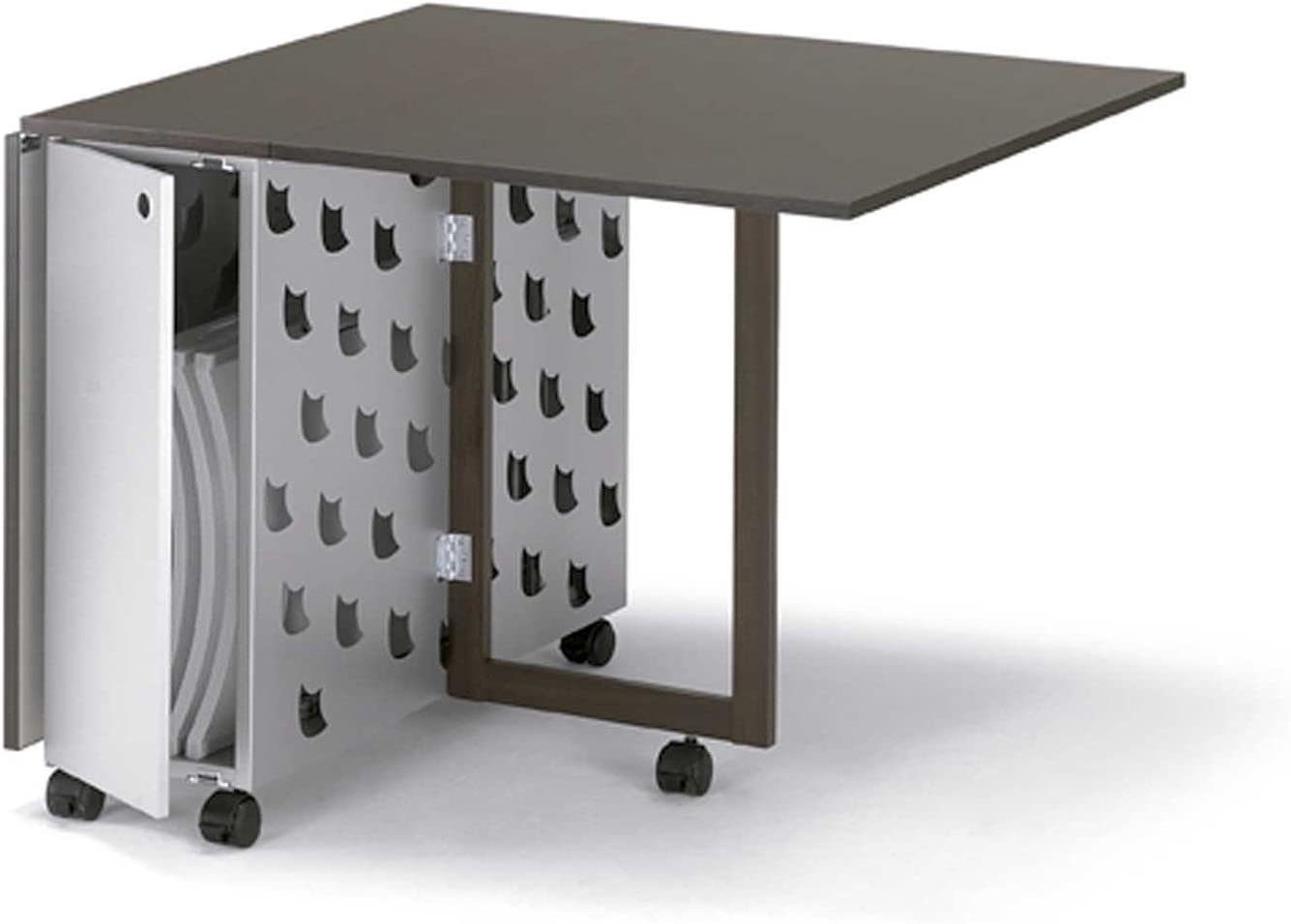 Mesa plegable rectangular GINGER, alas abatibles, Cerezo: Amazon ...