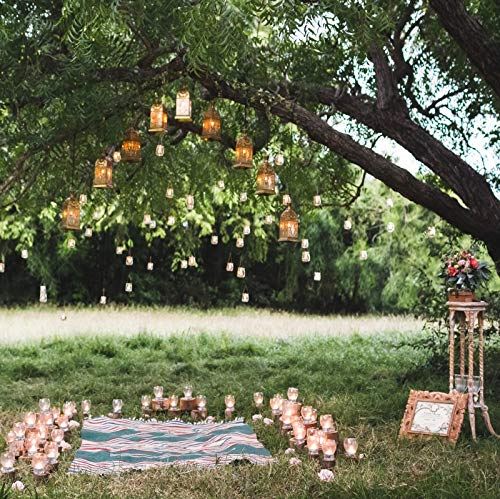Baocicco 10x10ft Evening Wedding Ceremony Backdrop Retro Lamps Candles Rustic Style Wedding Bouquets Green Grass Lawn Photography Background Wedding Ceremony Lover Portrait Props ()