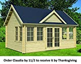 Allwood Claudia | 209 SQF Cabin Kit, Garden House Order by 11/2 and Receive it by Thanksgiving