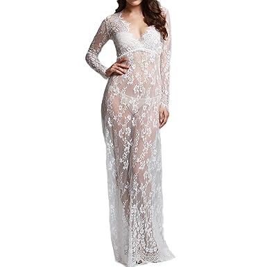 White Long Sleeve Maternity Maxi Dresses