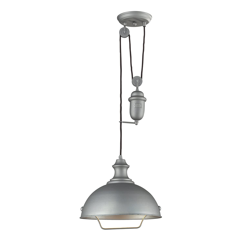 farmhouse pendant lighting. elk 650811 farmhouse 1light pendant aged pewter ceiling fixtures amazoncom lighting