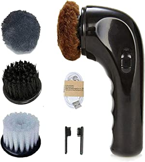 Electric Hand Held Shoe Polisher Black Shoe Boot Polish Shoe Shine Kit Shoe Buffer Machine Automatic Shoe Cleaner Boot Shinner Mini