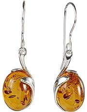 Sterling Silver and Baltic Honey Amber Earrings Lauren