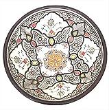 Handpainted Burgundy Medium Moroccan Ceramic Bowl