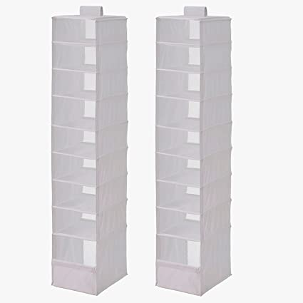 High Quality Ikea Organizer Closet Storage Hanging Skubb (2 Pack) White