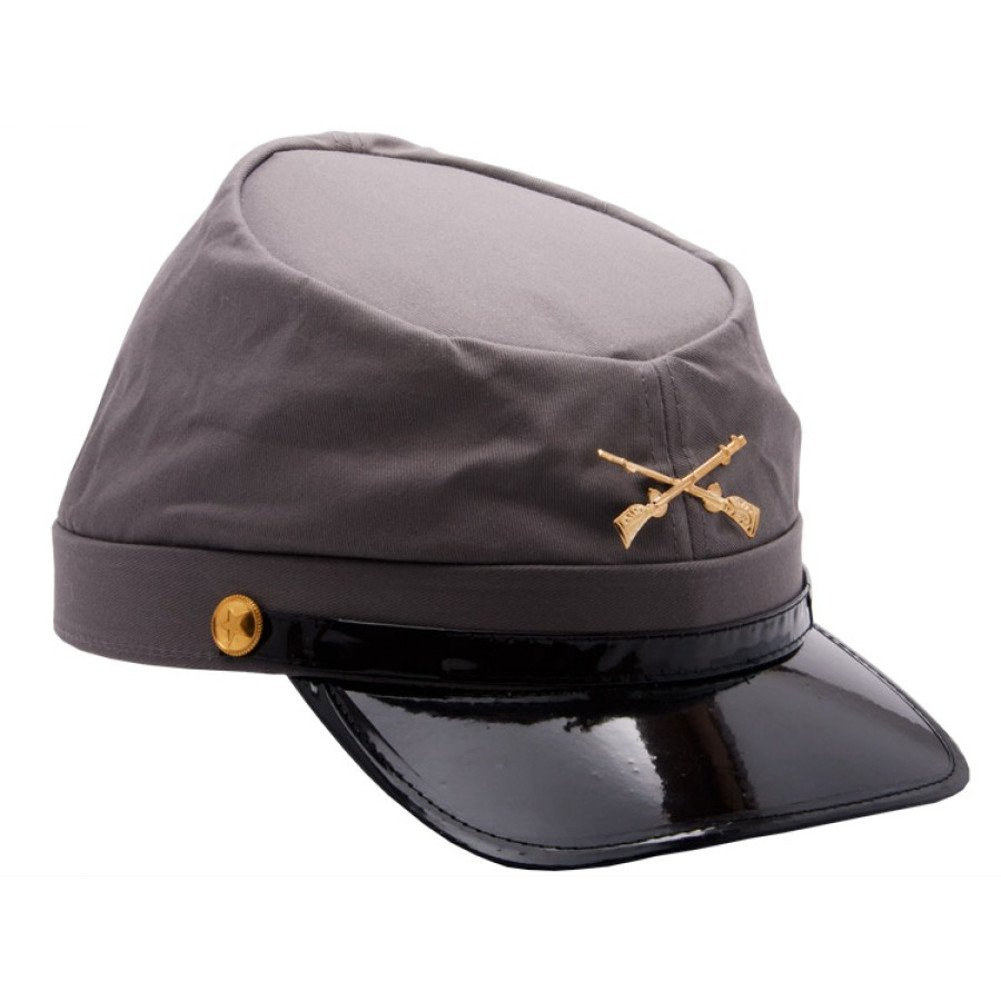 Amazon.com  MyPartyShirt Civil War Confederate Army Grey Cap  Clothing 4235ac6cabc