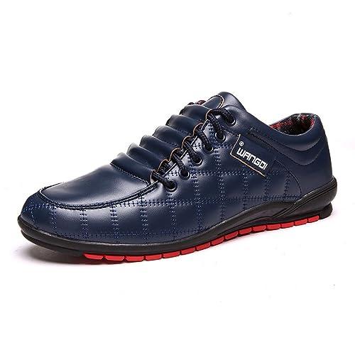 Oriskey zapatos de cordones de de cordones Piel Sintética para hombre color 9636ee