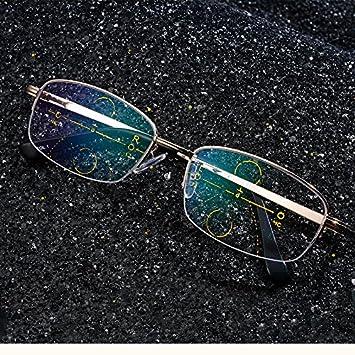 25c2b2c990 Winnerbe Intelligent Reading Glasses Progressive Multifocal Lens Presbyopia  Alloy Frame Anti Fatigue (Strength 2.5)