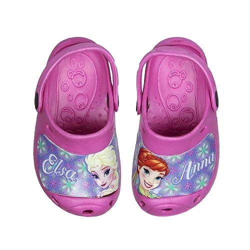 fe0e46262 Zuecos Frozen Elsa y Anna Spring Premium (32 33)  Amazon.es  Zapatos ...