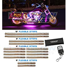 LEDGlow 14 Piece 252 LED Pink Motorcycle Lighting Kit