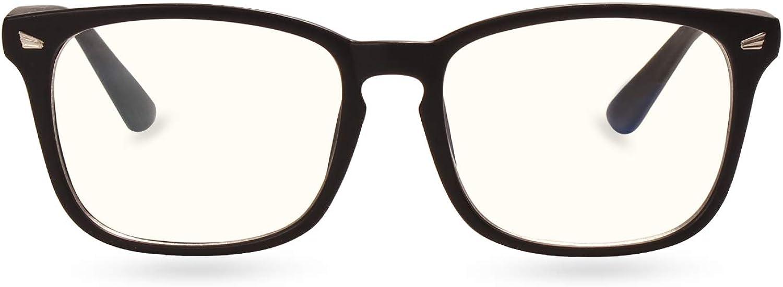 BESTUM Anti-blue Light Glasses Square Nerd for Women Men Blue Light Blocking Computer Glasses