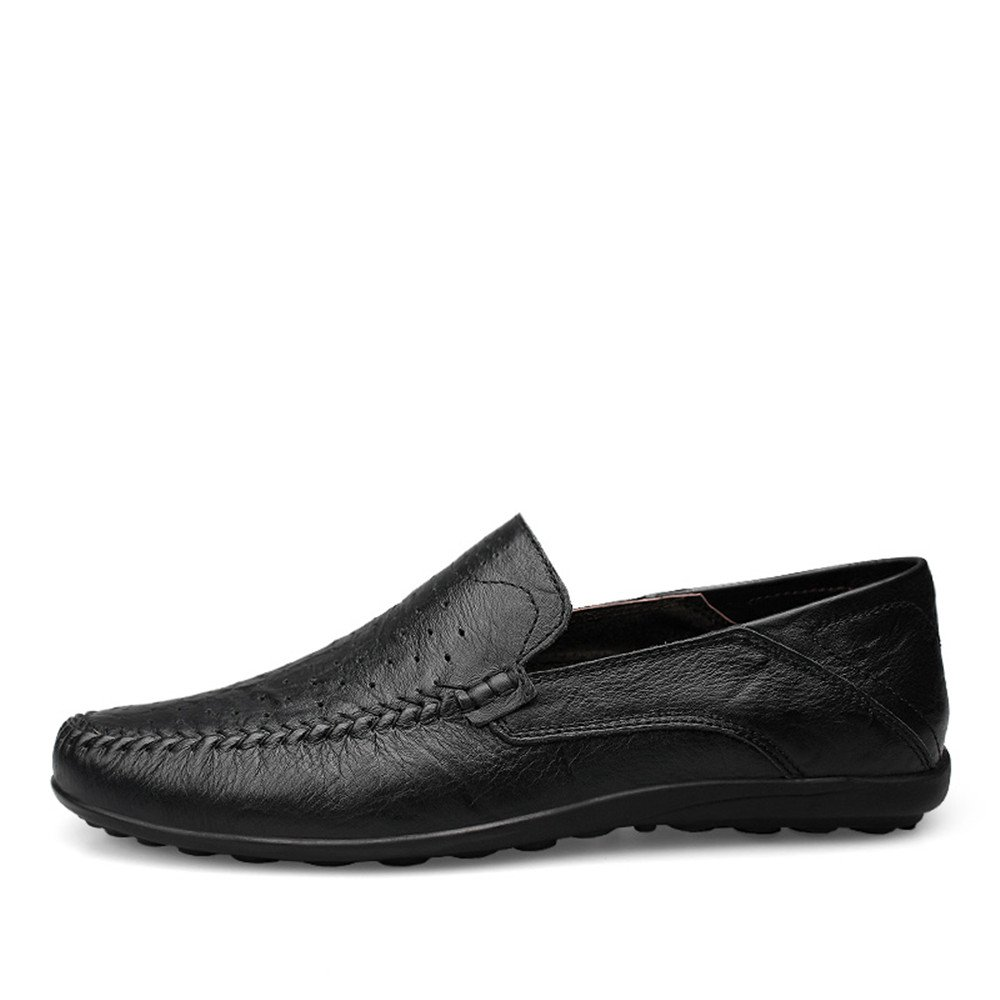 Xujw schuhe, 2018 Herren Mokassins Männer Mokassins Mode Slip On Driving Loafer Mode Mokassins Design Weichen Casual Slipper (Farbe : schwarz Hollow Vamp, Größe : 44 EU) 2a3c7b