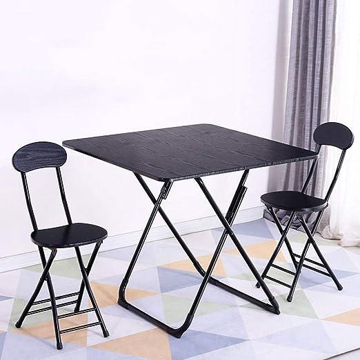 ACZZ Mesa plegable, mesa de comedor para el hogar ...