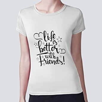 Women Blouse, life's better with friends