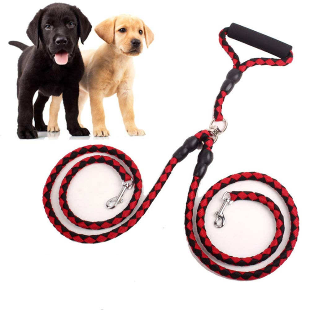 Red 1.3m red 1.3m Nylon Dog Training Leash Rope,1.3m pet Dog Leash,Suitable for Medium and Large Dogs,Can be Used for Two Dogs at The Same Time