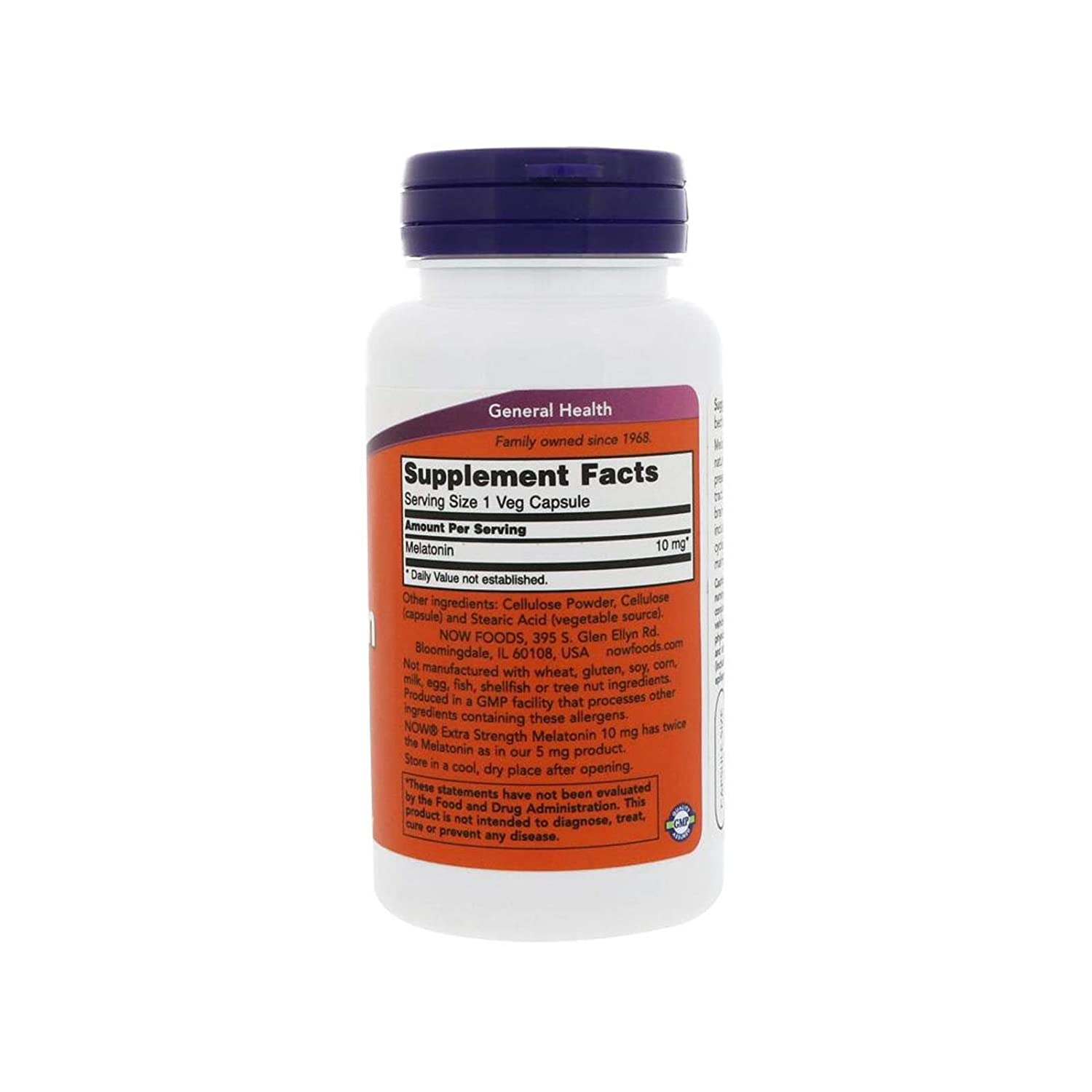 Amazon.com: Melatonin, 10 mg, 100 Vcaps by Now Foods (Pack of 2): Health & Personal Care