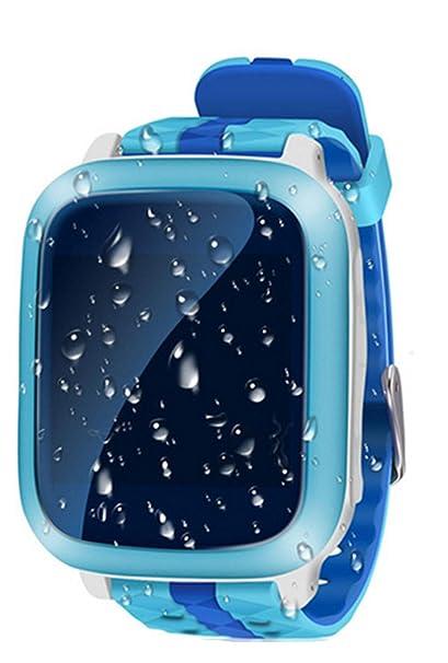 SKQC Reloj Inteligente, GPS WiFi Tracker SOS Llamada Smartwatch, Reloj Impermeable para niños con